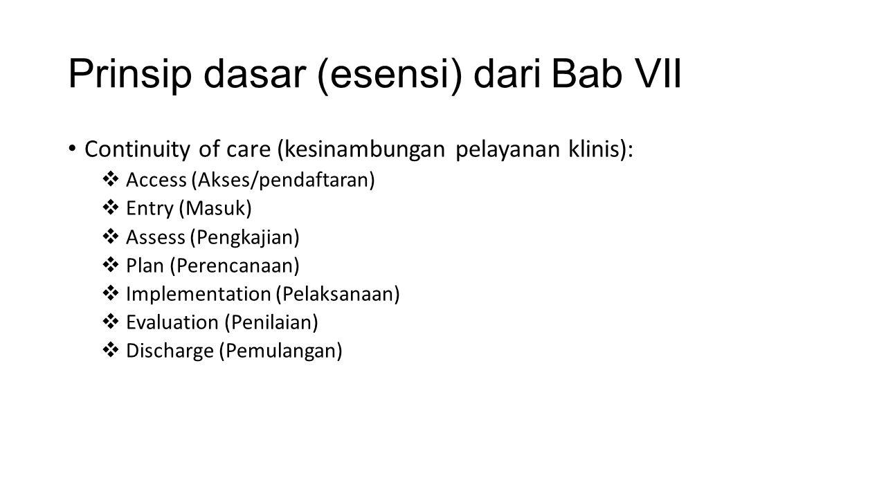 Prinsip dasar (esensi) dari Bab VII