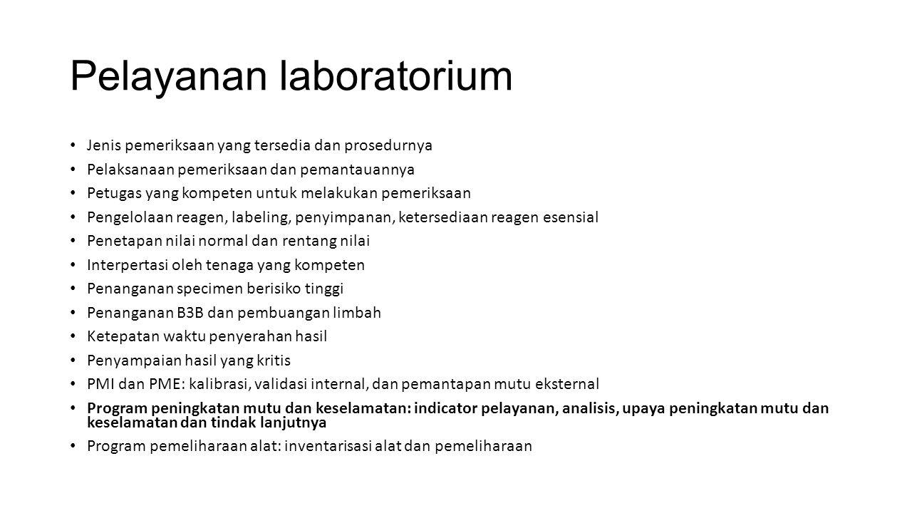 Pelayanan laboratorium