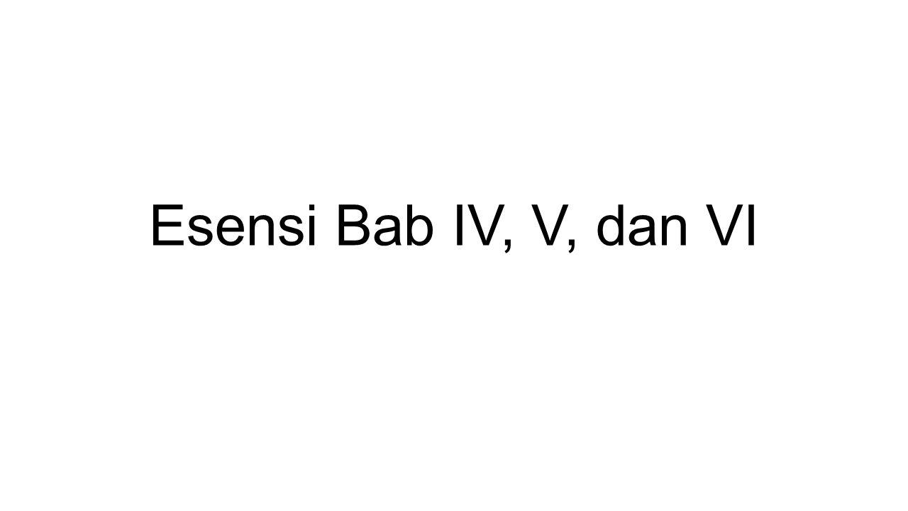 Esensi Bab IV, V, dan VI