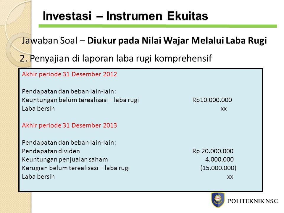 Investasi – Instrumen Ekuitas