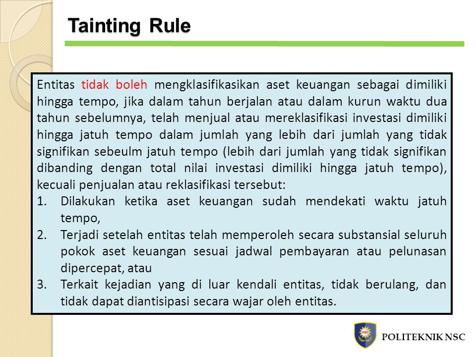 Tainting Rule