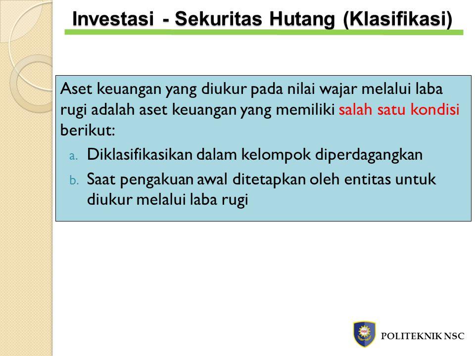 Investasi - Sekuritas Hutang (Klasifikasi)