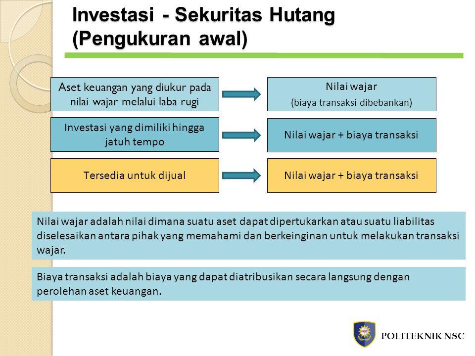 Investasi - Sekuritas Hutang (Pengukuran awal)