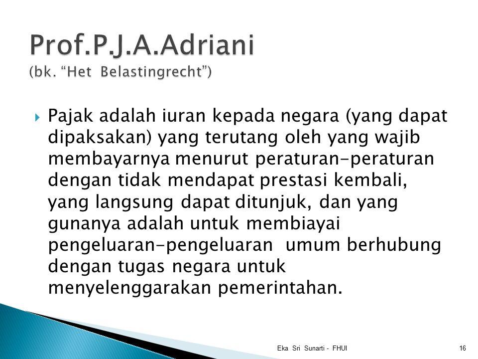 Prof.P.J.A.Adriani (bk. Het Belastingrecht )