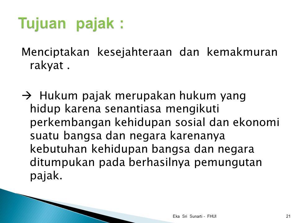 Tujuan pajak :