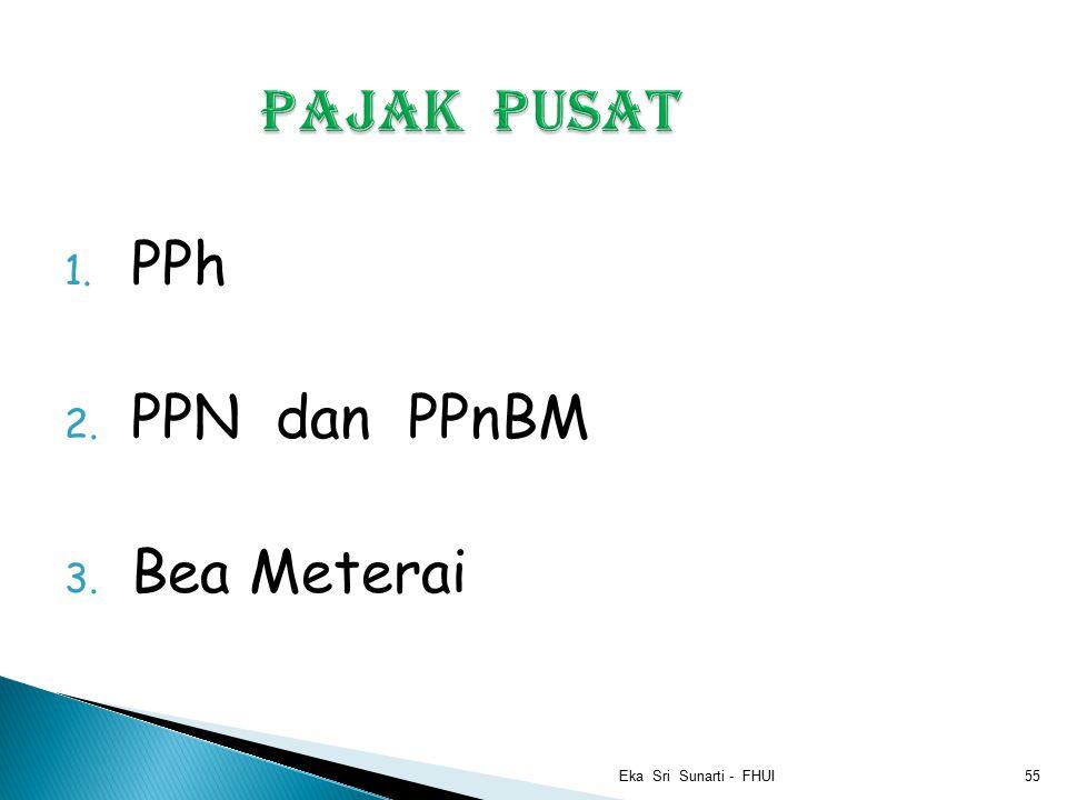 Pajak Pusat PPh PPN dan PPnBM Bea Meterai Eka Sri Sunarti - FHUI