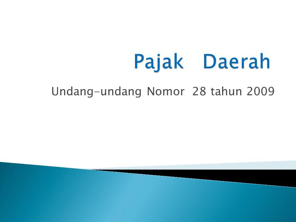 Undang-undang Nomor 28 tahun 2009