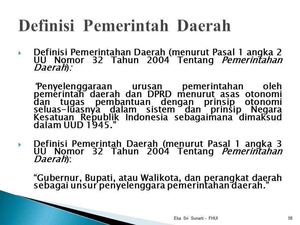 Definisi Pemerintah Daerah