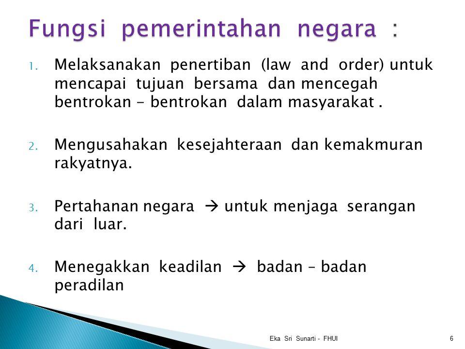 Fungsi pemerintahan negara :