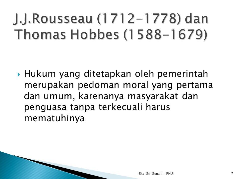 J.J.Rousseau (1712-1778) dan Thomas Hobbes (1588-1679)