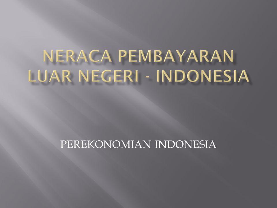 NERACA PEMBAYARAN LUAR NEGERI - INDONESIA