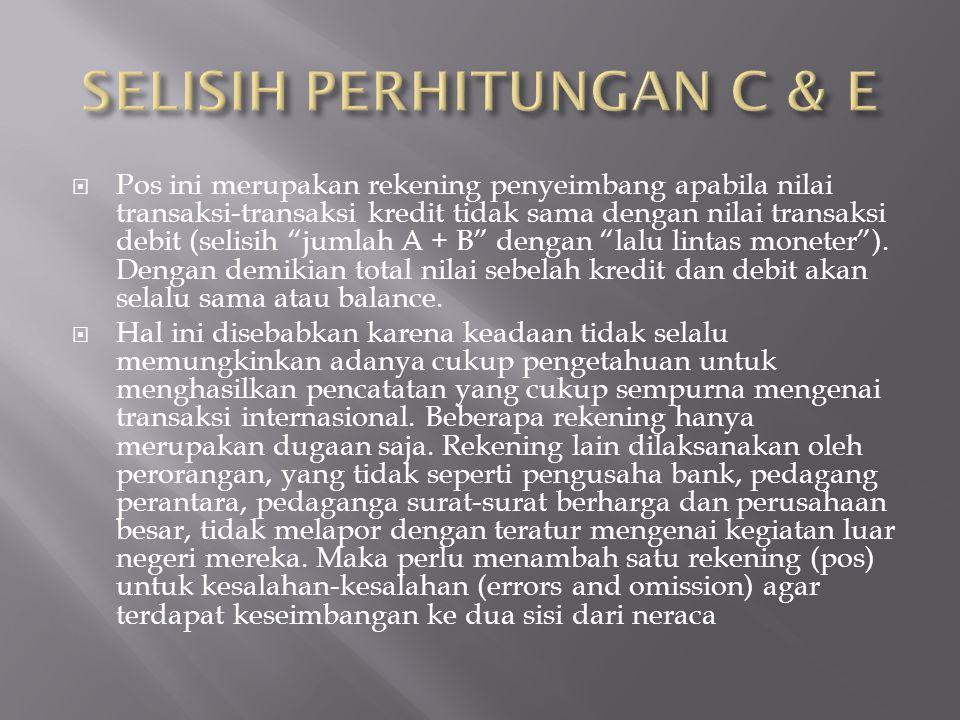 SELISIH PERHITUNGAN C & E