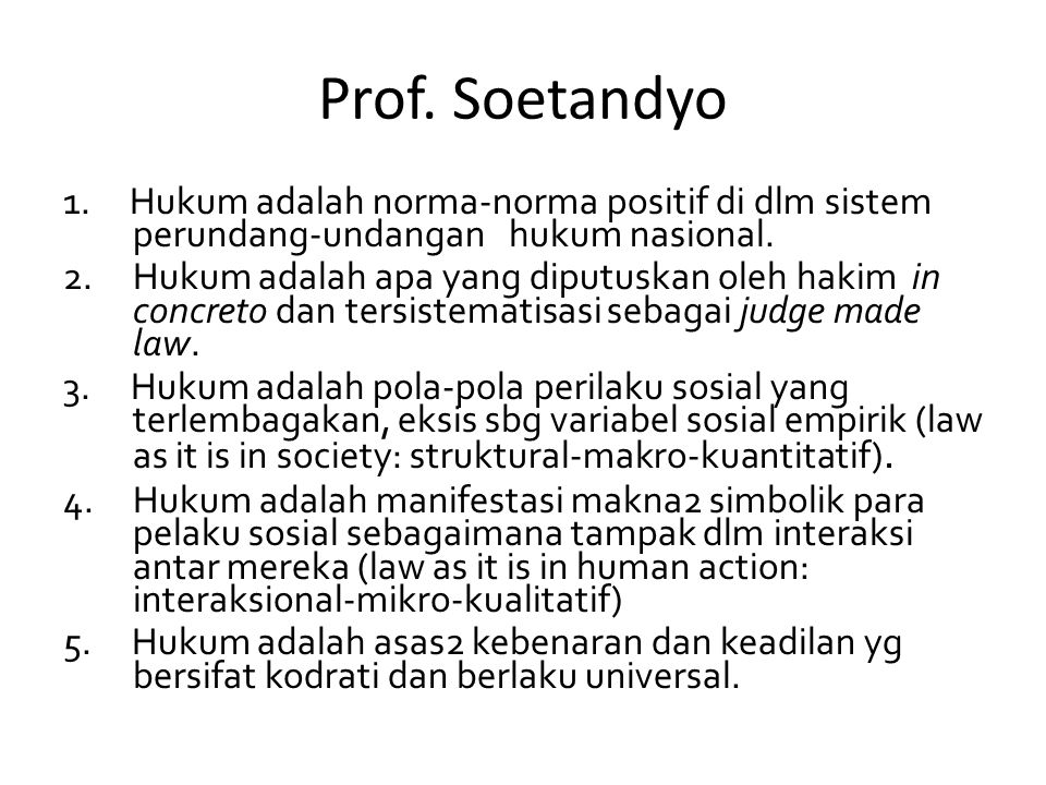 Prof. Soetandyo