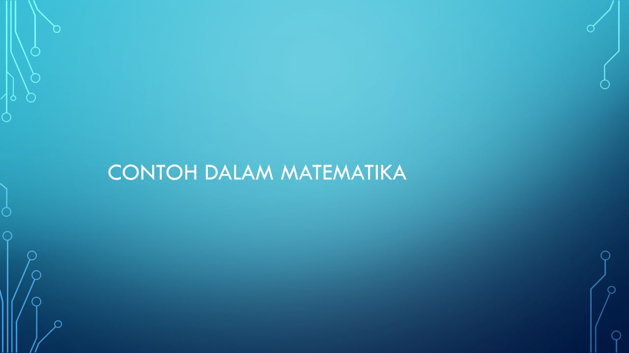 Contoh dalam Matematika