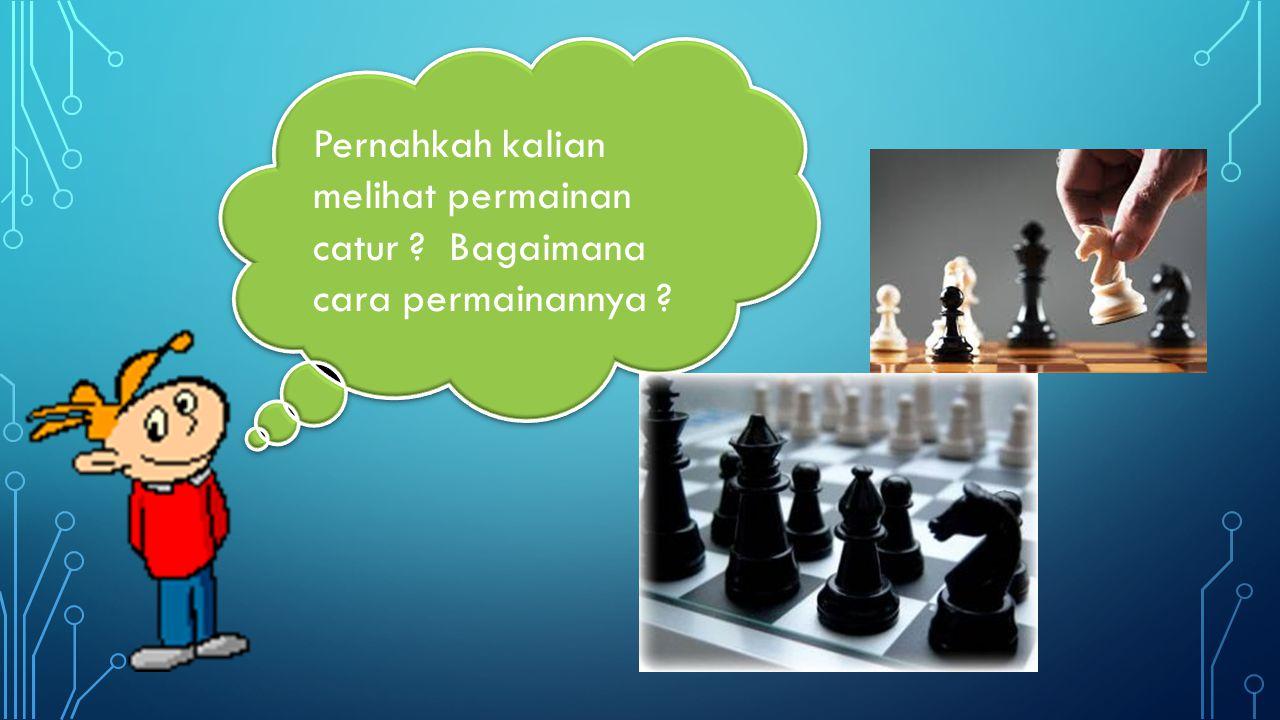 Pernahkah kalian melihat permainan catur Bagaimana cara permainannya