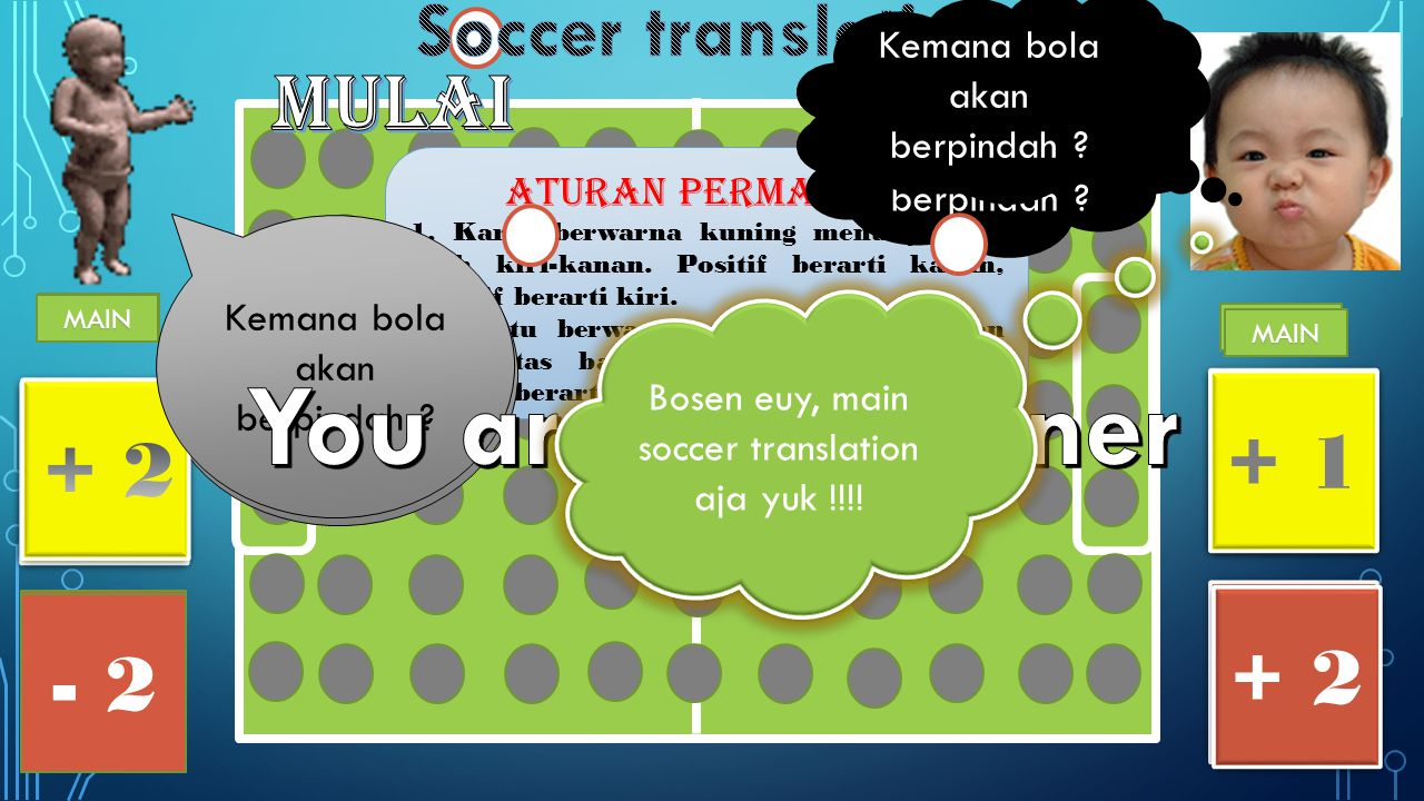 You are the winner Soccer translation mulai + 1 - 2 + 2 + 2 - 2 - 2