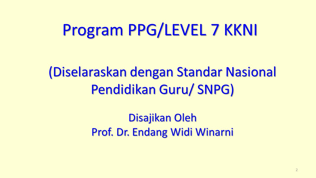 Program PPG/LEVEL 7 KKNI