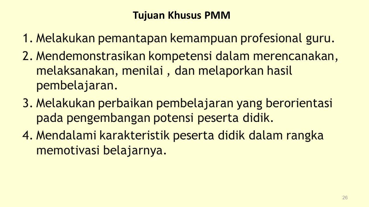 Melakukan pemantapan kemampuan profesional guru.