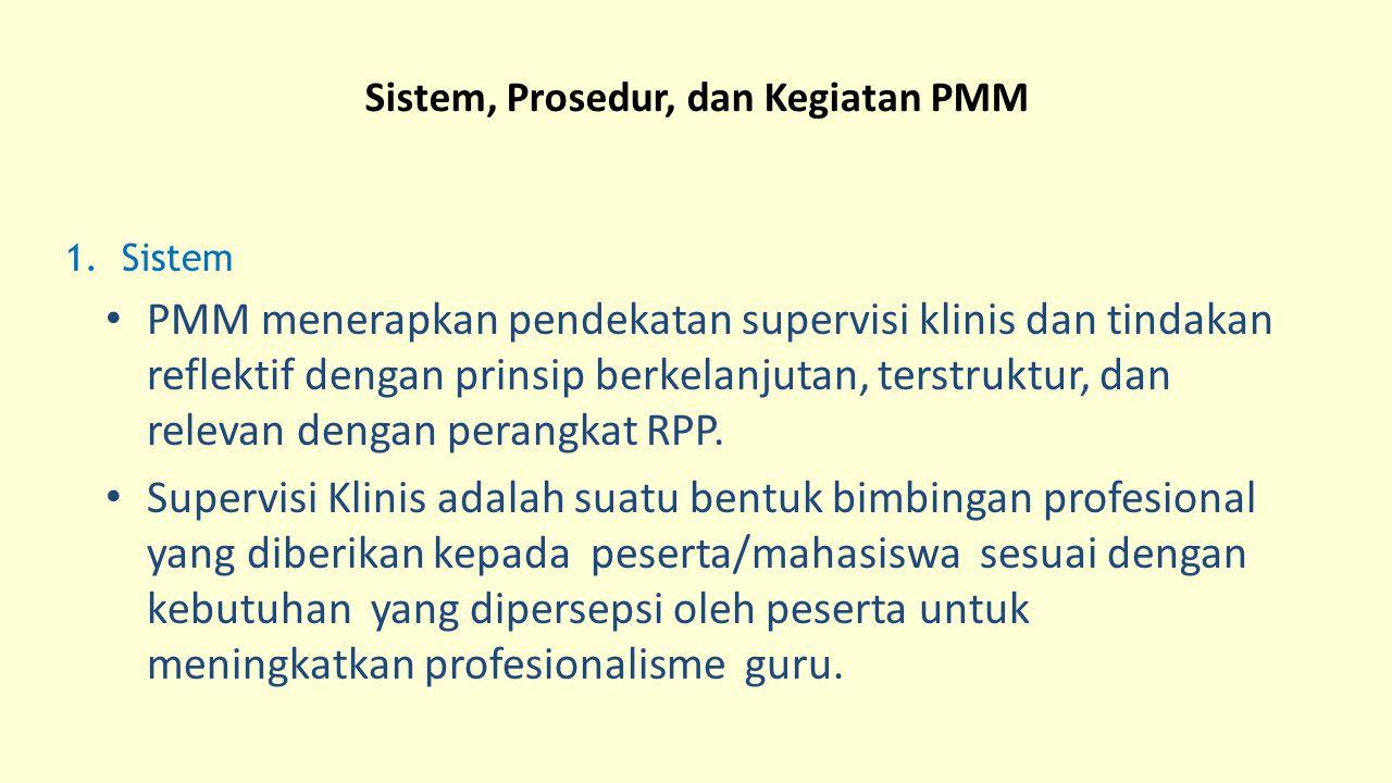 Sistem, Prosedur, dan Kegiatan PMM