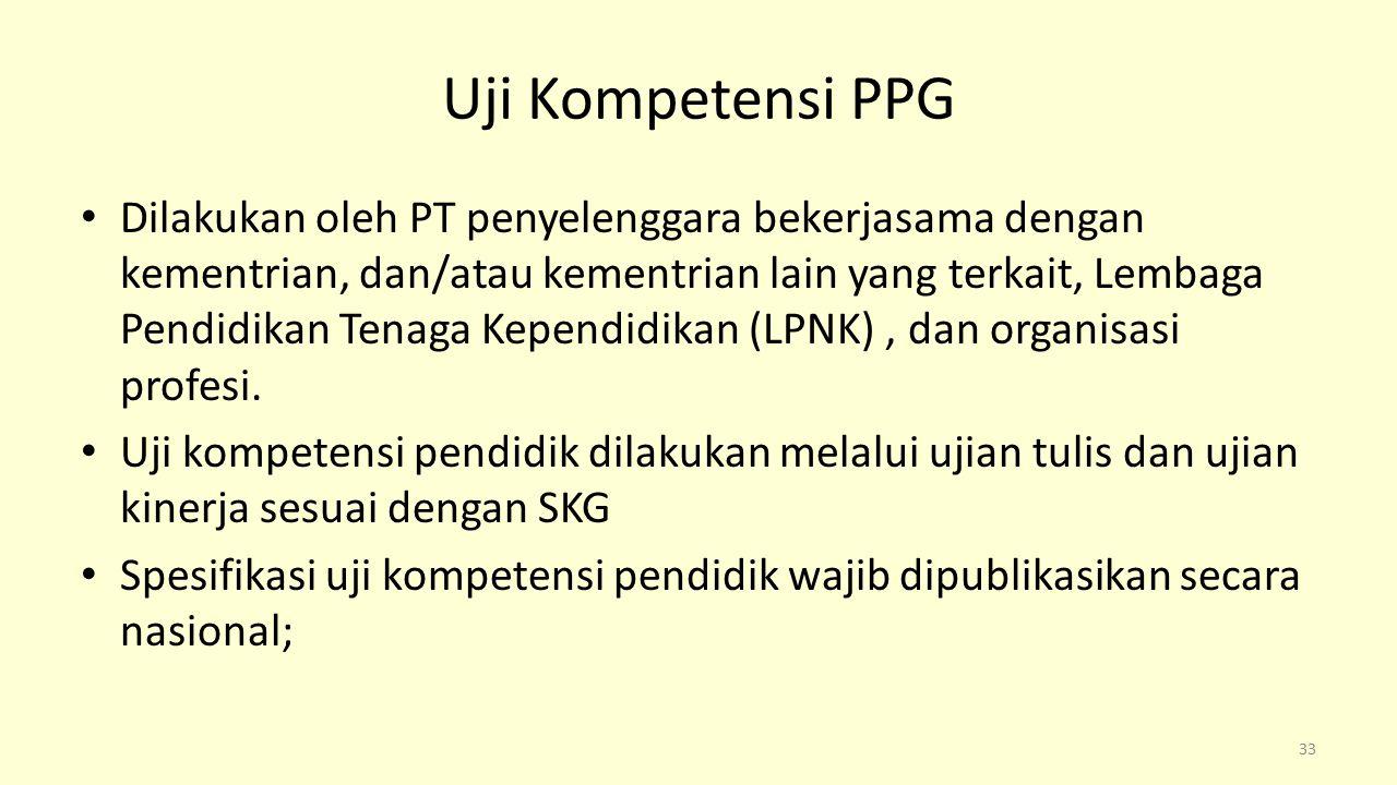 Uji Kompetensi PPG
