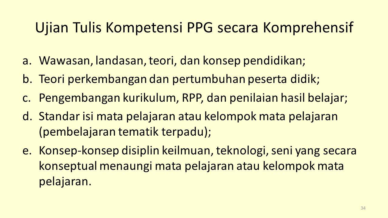 Ujian Tulis Kompetensi PPG secara Komprehensif
