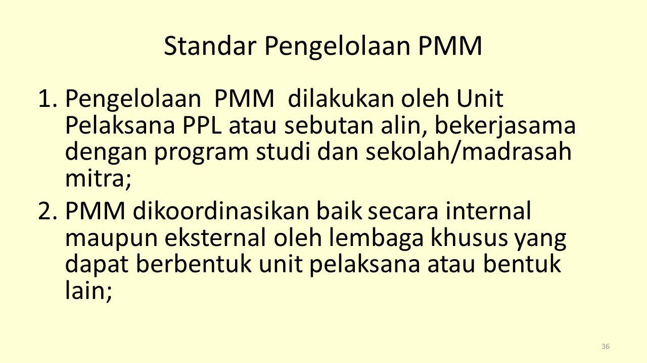 Standar Pengelolaan PMM