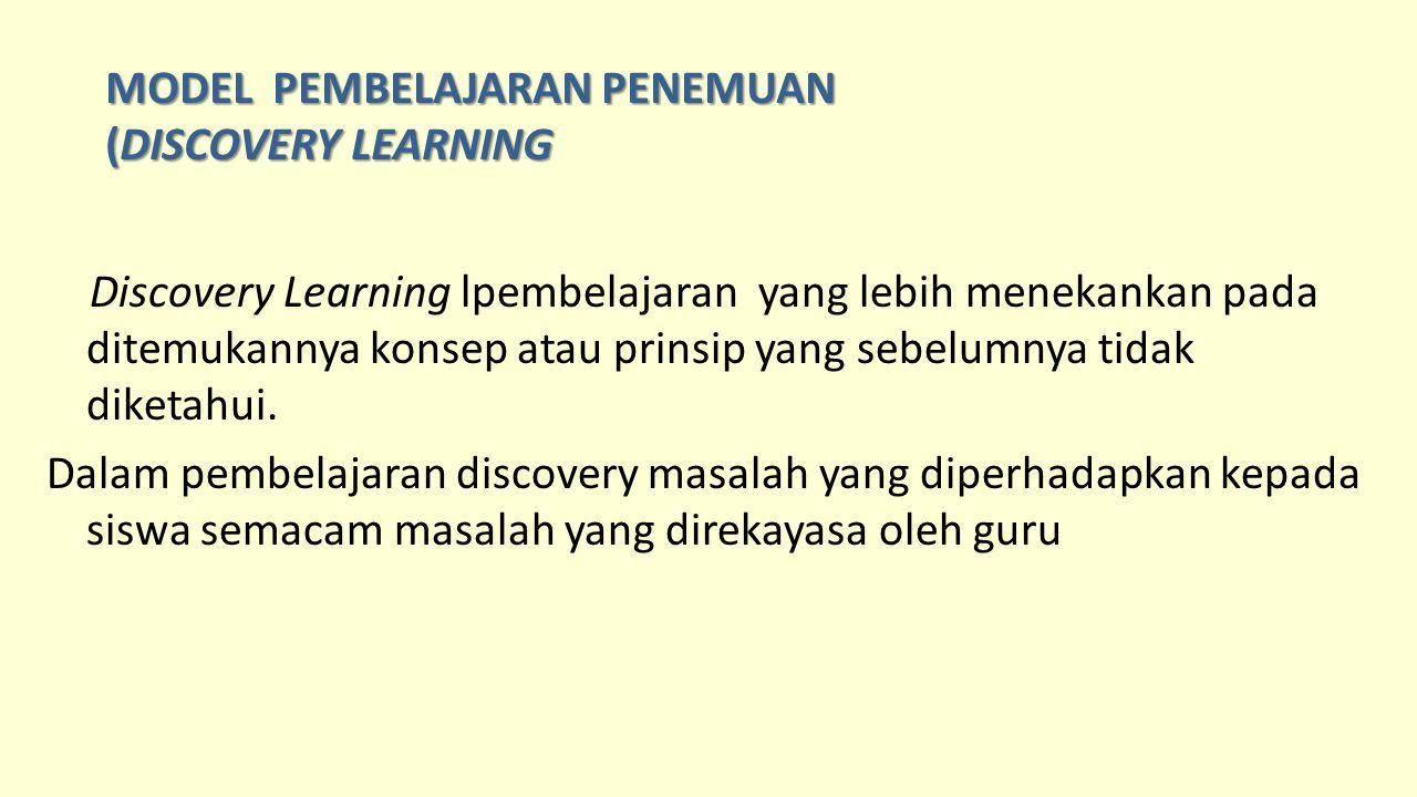 MODEL PEMBELAJARAN PENEMUAN (DISCOVERY LEARNING