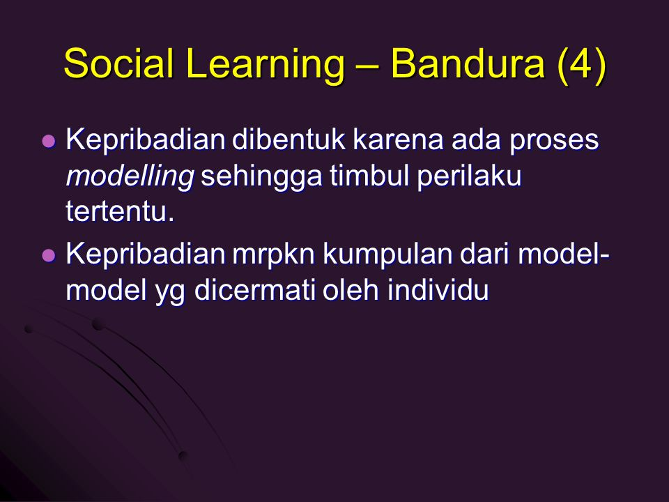 Social Learning – Bandura (4)