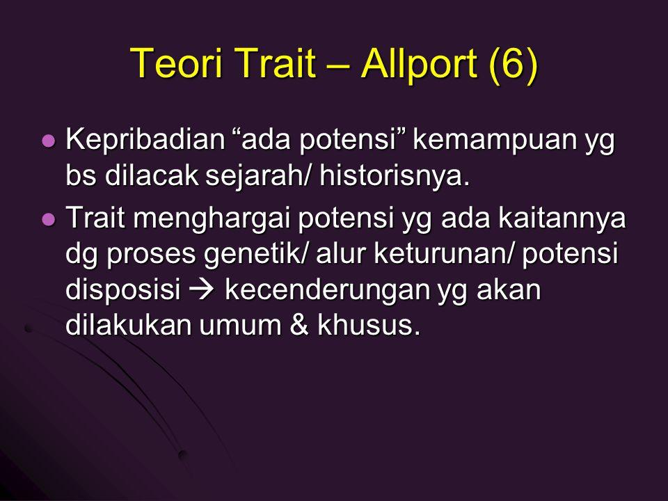 Teori Trait – Allport (6)