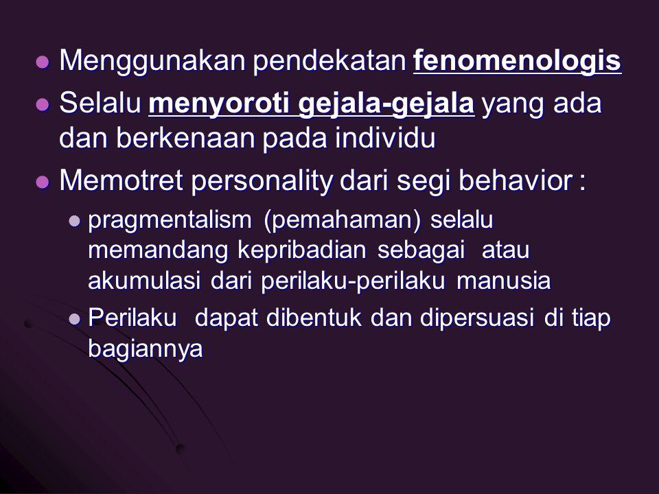 Menggunakan pendekatan fenomenologis