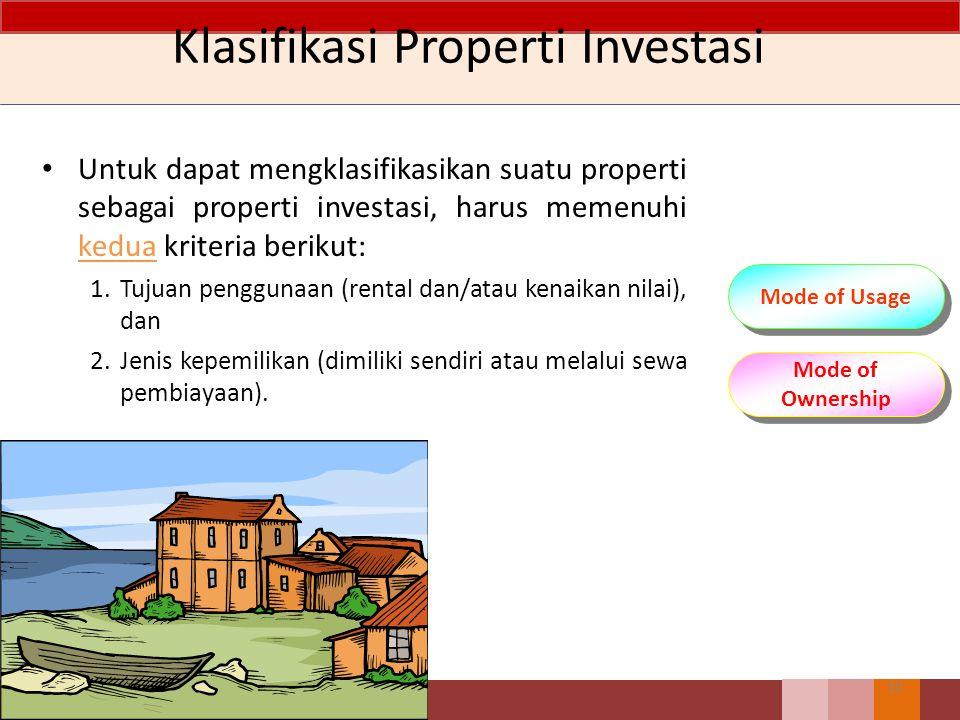 Klasifikasi Properti Investasi