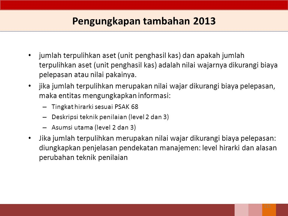 Pengungkapan tambahan 2013