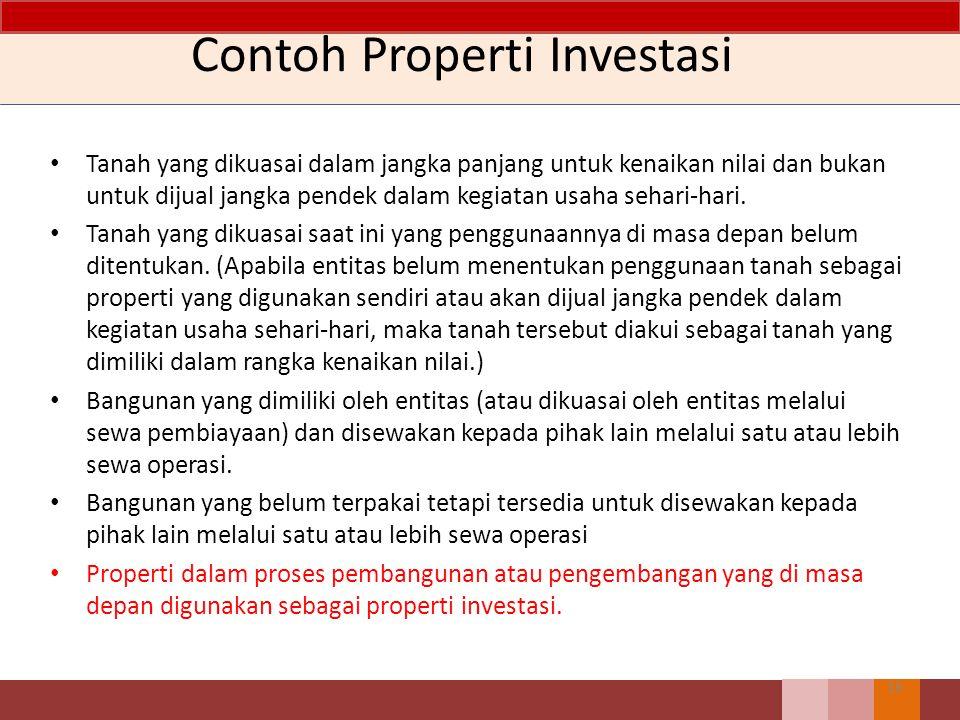 Contoh Properti Investasi