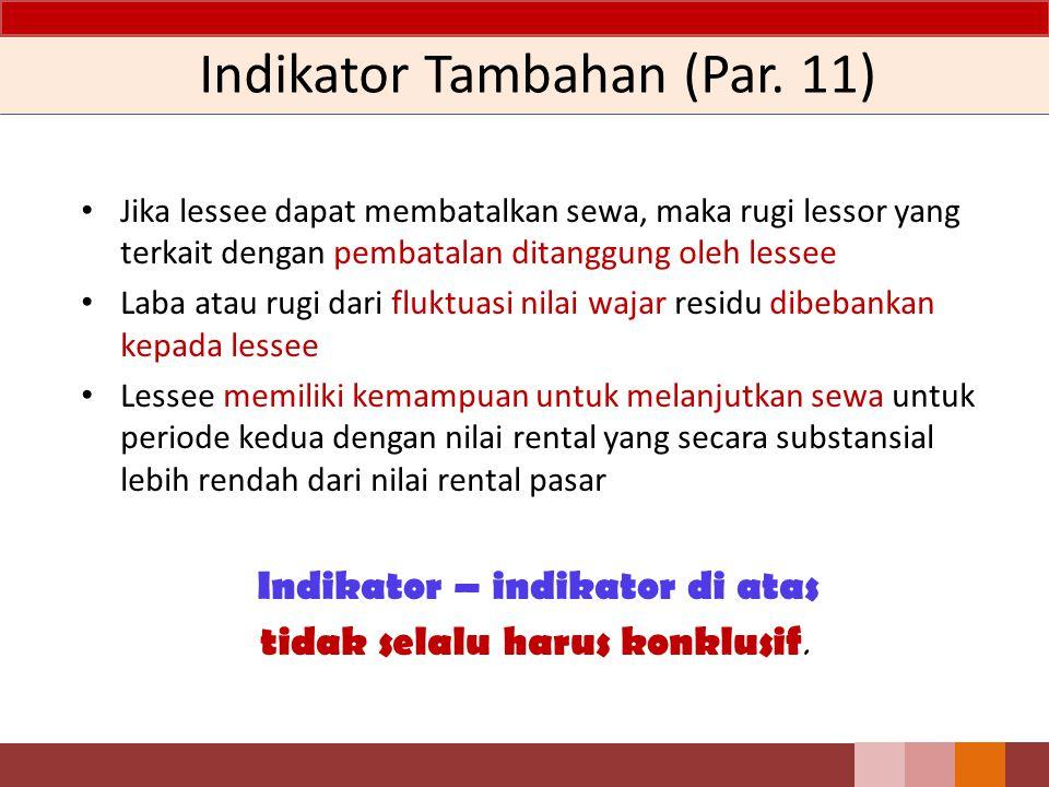 Indikator Tambahan (Par. 11)