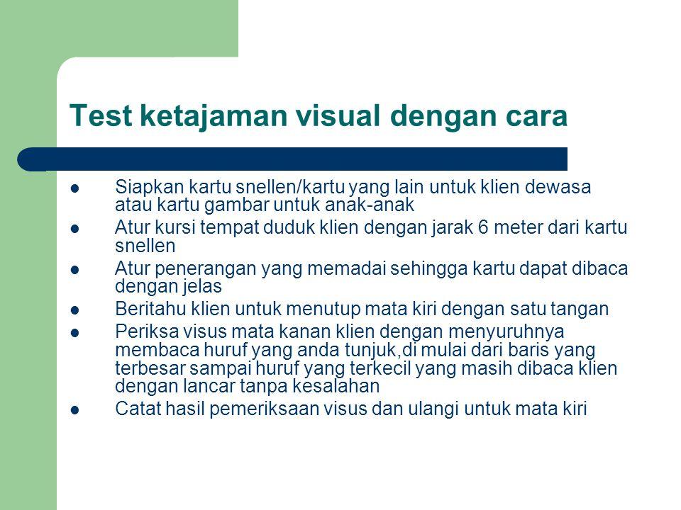Test ketajaman visual dengan cara