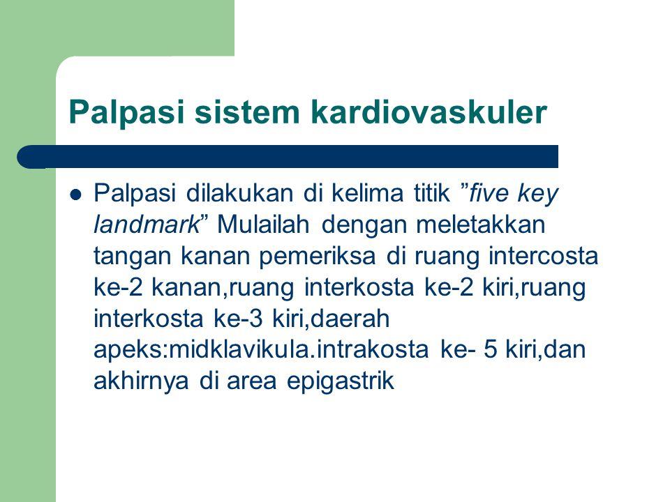 Palpasi sistem kardiovaskuler