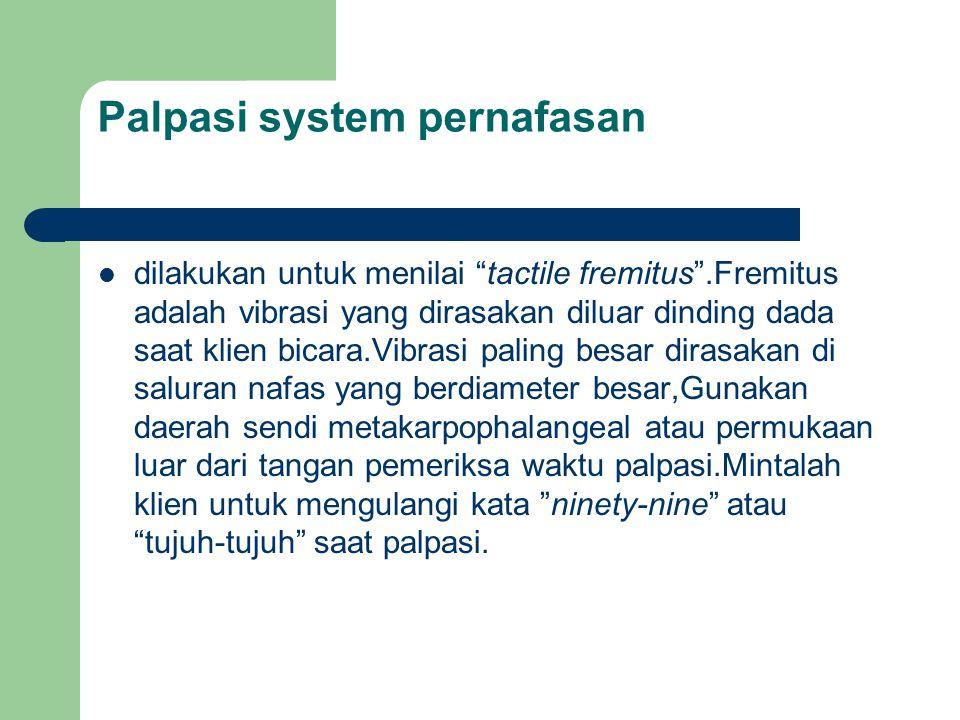 Palpasi system pernafasan