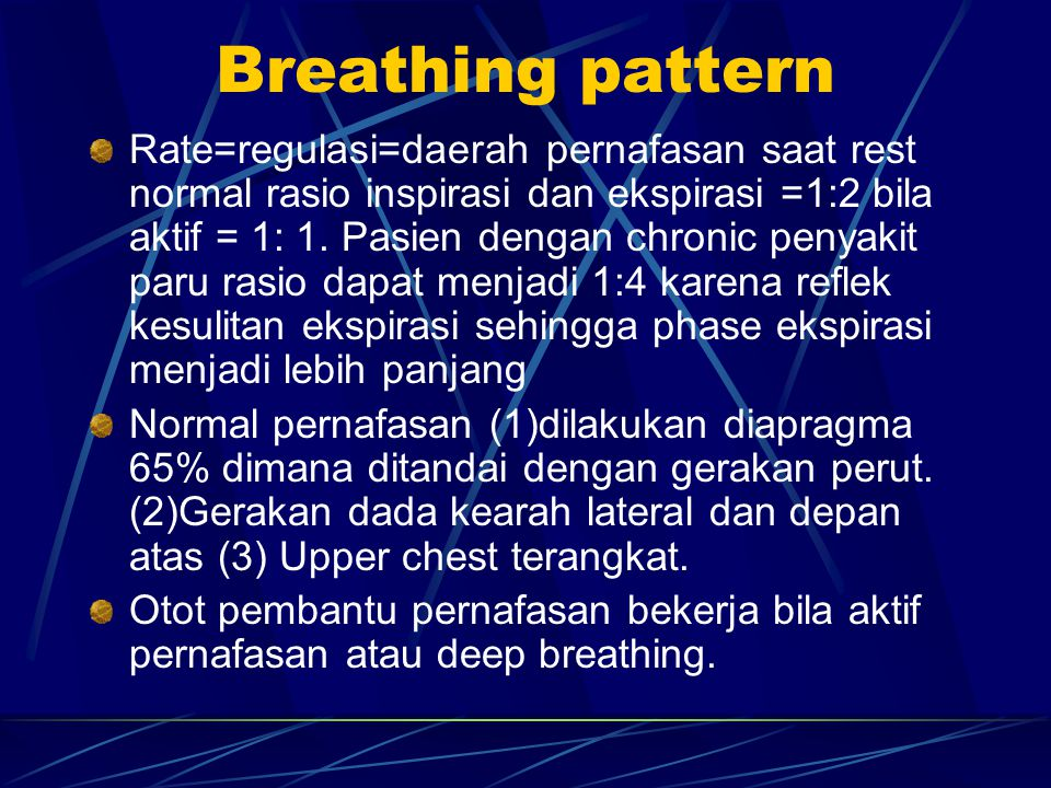 Breathing pattern