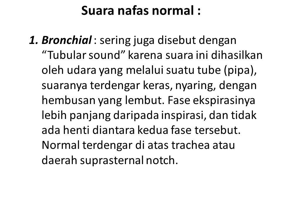 Suara nafas normal :