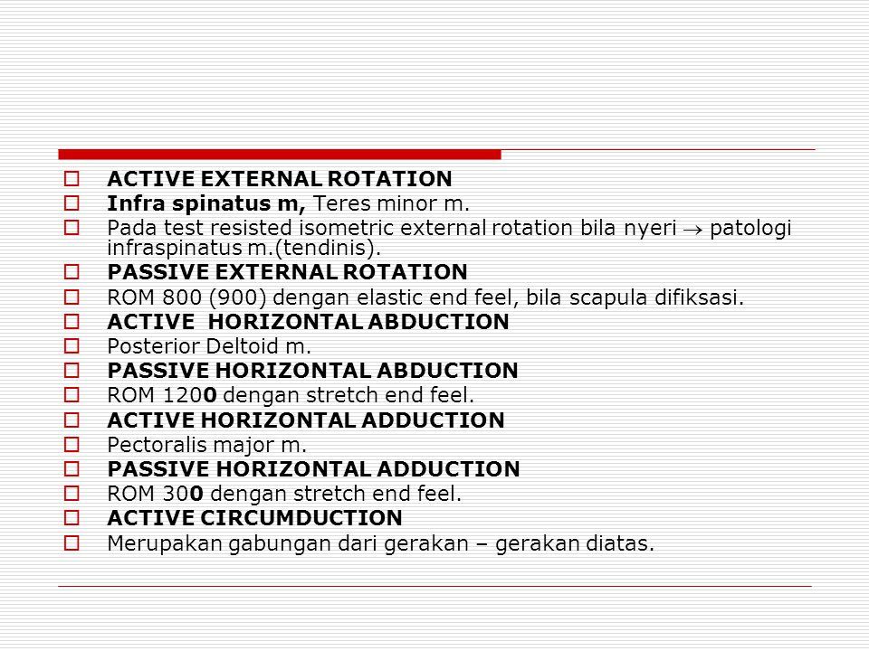 ACTIVE EXTERNAL ROTATION
