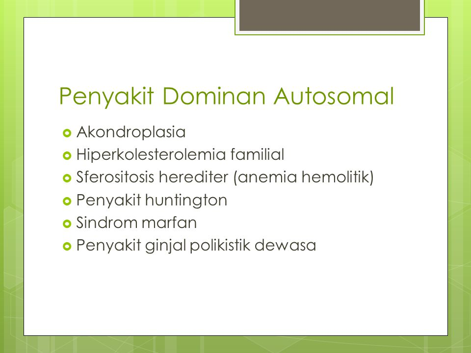 Penyakit Dominan Autosomal