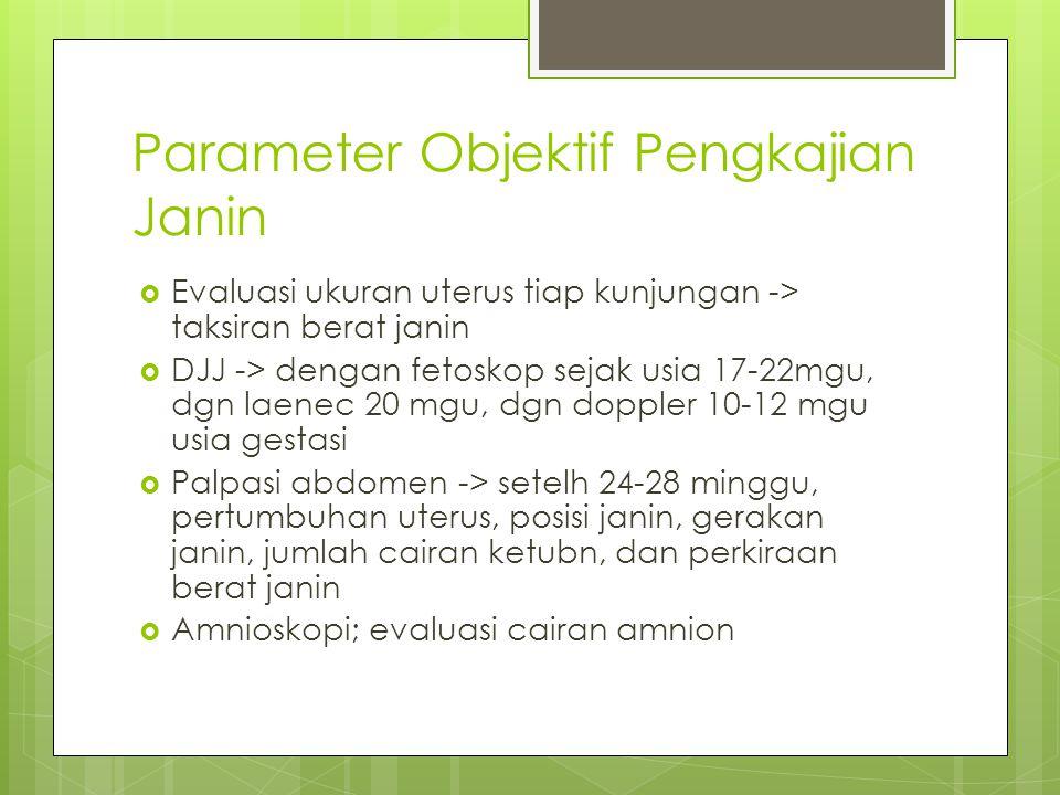 Parameter Objektif Pengkajian Janin