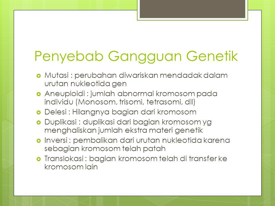 Penyebab Gangguan Genetik