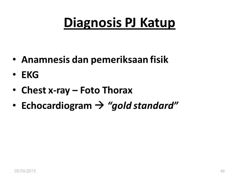 Diagnosis PJ Katup Anamnesis dan pemeriksaan fisik EKG