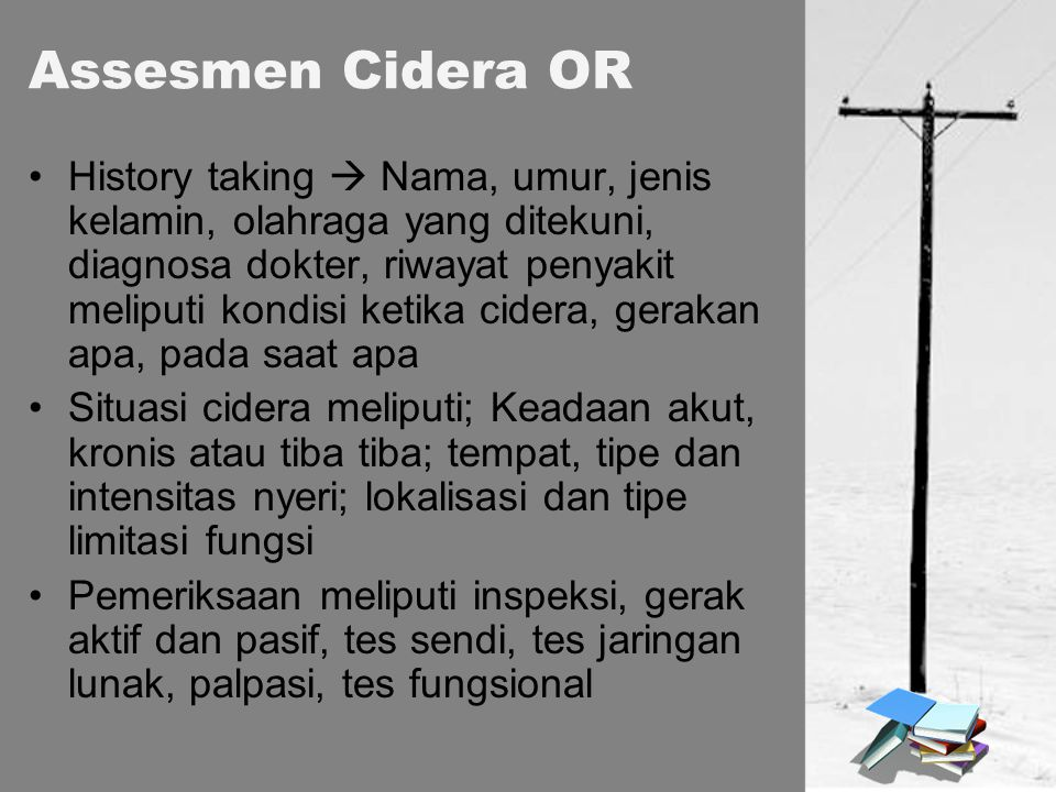 Assesmen Cidera OR