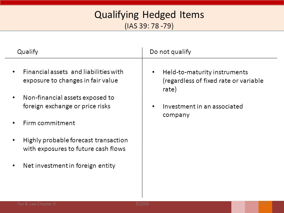Qualifying Hedged Items (IAS 39: 78 -79)