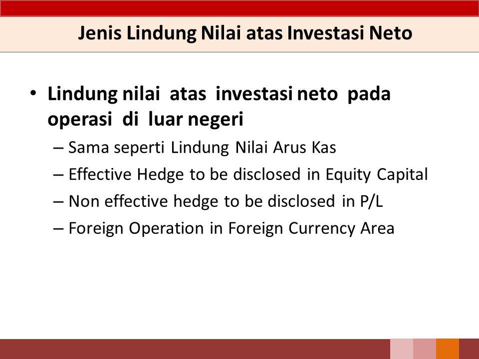 Jenis Lindung Nilai atas Investasi Neto