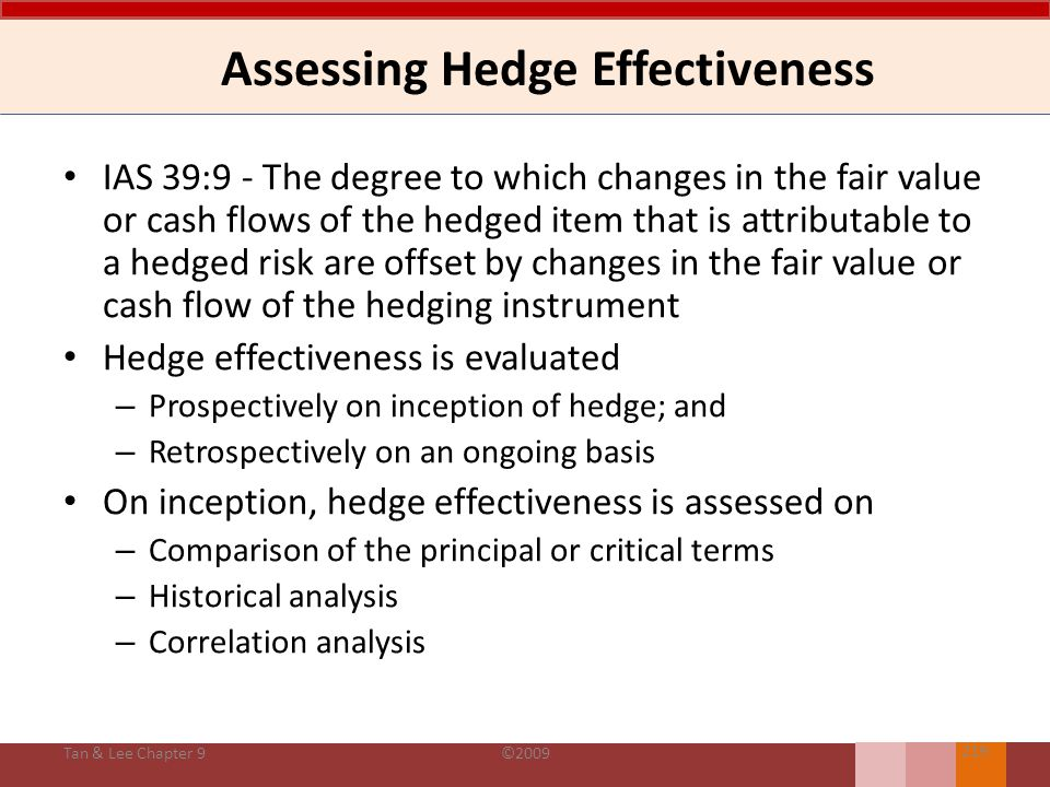 Assessing Hedge Effectiveness