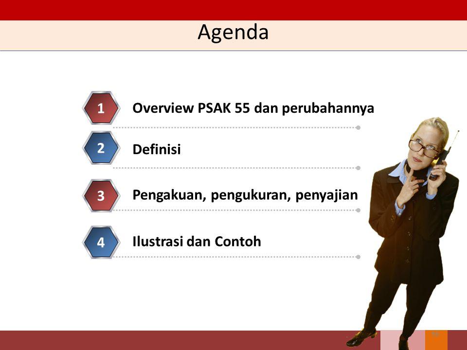 Agenda 1 Overview PSAK 55 dan perubahannya 2 Definisi 3