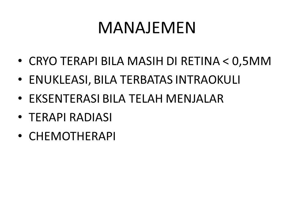 MANAJEMEN CRYO TERAPI BILA MASIH DI RETINA < 0,5MM